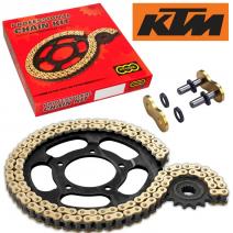 Комплект верига и пиньони Regina за KTM