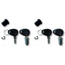 Ключалки за 2 броя куфари Kappa черни