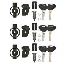 Секретни ключалки за 3 броя куфари Kappa