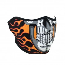 Маска ZANheadgear® HALF MASK Burning Skull